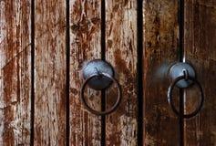 木的门 免版税图库摄影