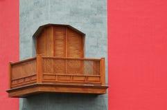 木的阳台 免版税库存照片