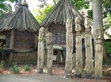 木的雕塑 免版税库存照片