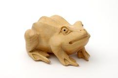 木的青蛙 库存图片