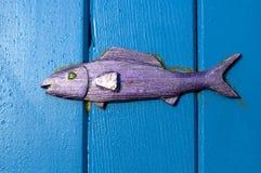 木的鱼 免版税库存图片
