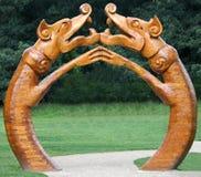木的龙 免版税库存图片