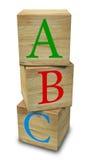 木的abc 免版税库存照片