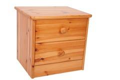 木的nightstand 库存照片