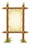 木皮革老符号的立场 免版税库存照片