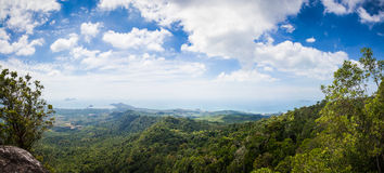 木盆Kaek – Nak小山自然痕迹观点 图库摄影