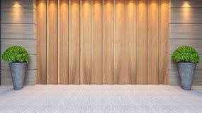 木盘区墙壁装饰设计 免版税图库摄影