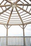 木眺望台里面看法  图库摄影