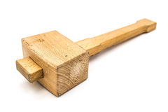 木短槌 免版税库存图片