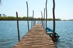 木码头在拉巴斯,萨尔瓦多 库存照片