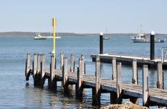 木码头在Mandurah,西澳州 免版税图库摄影