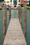 木码头威尼斯 免版税库存照片
