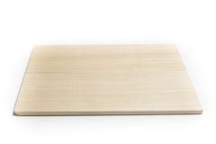 木砧板被隔绝的白色背景 图库摄影