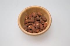 木碗用杏仁 图库摄影