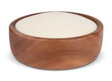 木碗的粗面粉 库存照片
