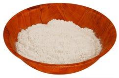 木碗的面粉 库存照片