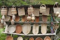 木碗 免版税库存图片