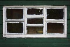 木空白的视窗 库存照片