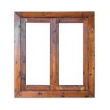 木窗口外部边的框架 免版税库存照片