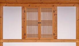 木窗口韩国样式在韩国 图库摄影