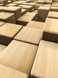 木立方体背景 库存照片