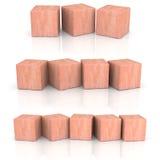 木立方体 库存照片