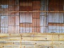 木竹墙壁背景 免版税库存图片