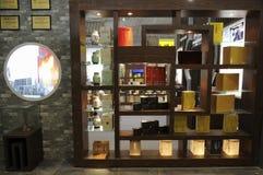 木第1 20112个csitf产品架子的茶 免版税库存图片