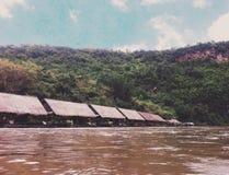木筏在河 免版税图库摄影