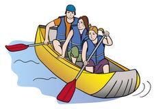 木筏的人们 库存图片