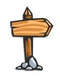 木箭头的指针 向量例证
