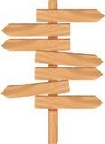 木箭头方向 库存例证