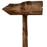木箭头标志 库存图片