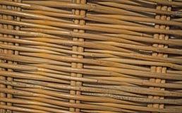 木篮子纹理背景  免版税库存照片