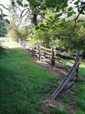 木篱芭从路过的几天 图库摄影