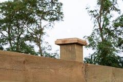 木篱芭柱子  免版税库存图片