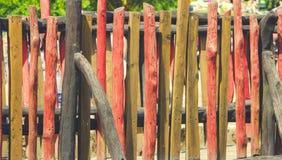 木篱芭,背景图象,红色口气 库存照片