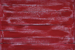 木红色水平的委员会 与拷贝空间的正面图 免版税图库摄影
