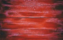 木红色水平的委员会 正面图 免版税库存图片