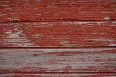 木纹理墙壁外部-红色 库存照片