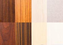 木纹理收藏 免版税库存照片