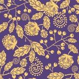 木纹理秋天种植无缝的样式 免版税库存图片