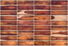 木纹理背景的汇集设置了01在白色背景 免版税库存照片