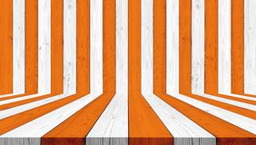 木纹理背景,镶边桔子和白色万圣夜背景的 免版税库存照片