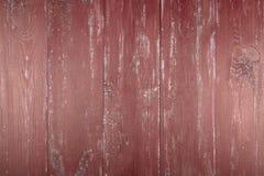 木纹理背景 老木纹理的表面 委员会在红色被绘 免版税库存照片