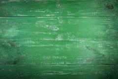 木纹理背景 老木纹理的表面 委员会被绘以绿色 图库摄影