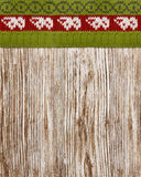 木纹理被编织的毛线衣,无缝的背景,木冬天 免版税库存照片