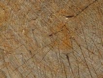 木纹理-年迈的被锯的木头 免版税库存图片