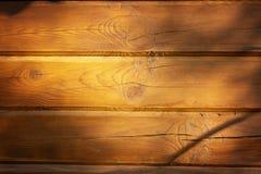 木纹理 轻的木头墙壁对待与油漆 免版税库存照片