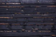 黑木纹理 免版税库存照片